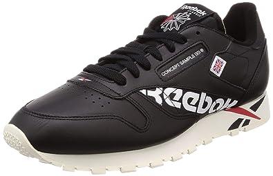 460a6a9022444 Reebok Herren Classic Leather MU Sneaker Schwarz  Amazon.de  Schuhe ...