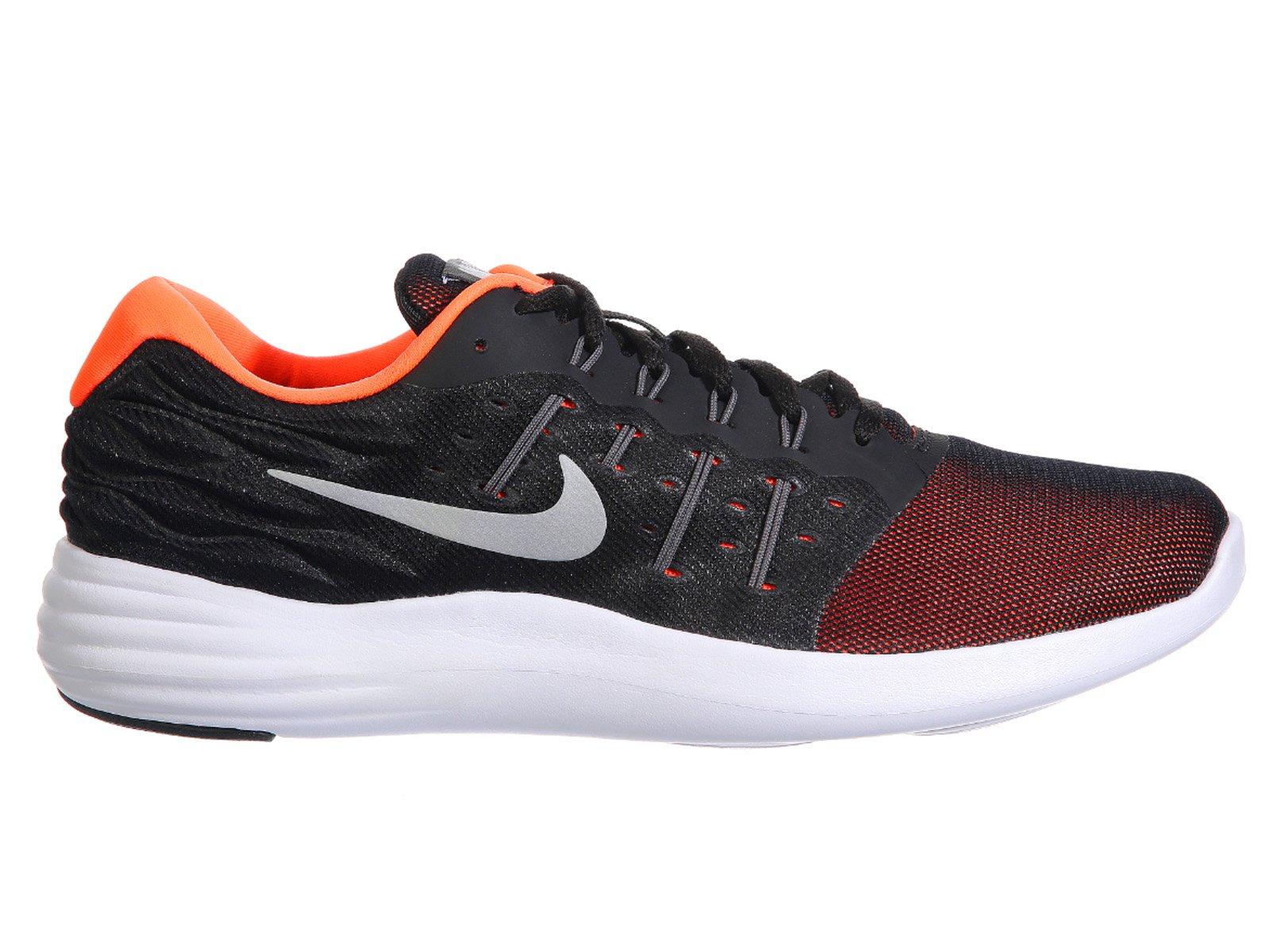 newest c9415 ddc03 Galleon - NIKE Men s Lunarstelos Black Dark Grey Hyper Orange Metallic  Silver Nylon Running Shoes 8.5 D(M) US