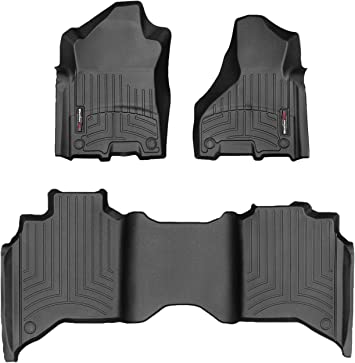 1st /& 2nd Row WeatherTech Custom Fit FloorLiner for Colorado//Canyon Crewy Cab Black