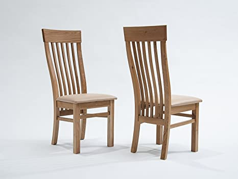 Sedie Per Sala Da Pranzo : Amentis sherwood oak sedia per sala da pranzo con seduta crema