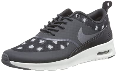sports shoes 5efb2 fea08 Nike Air Max Thea Print Damen Sneakers, Grau (Black Dark Grey-Anthracite