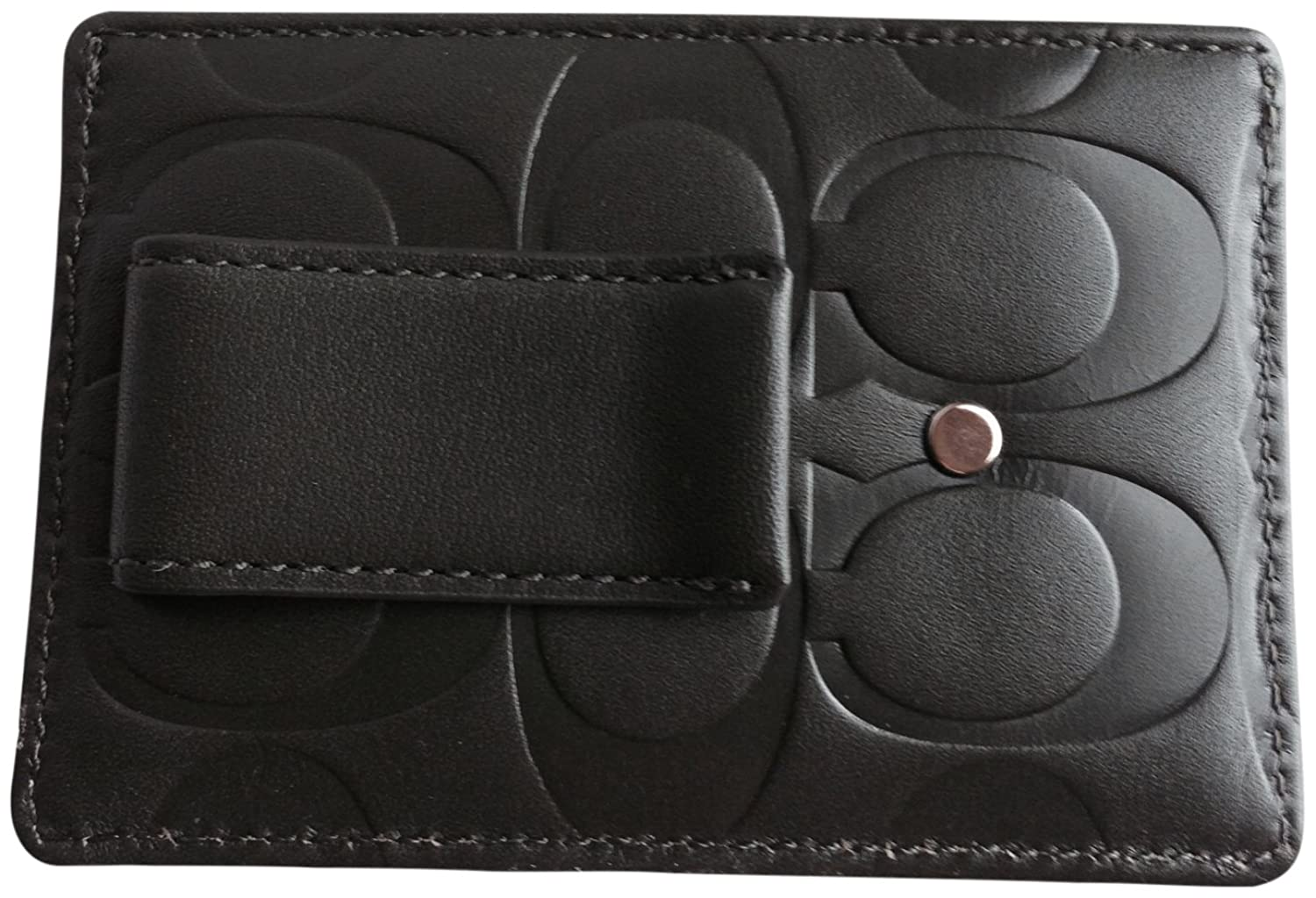 Amazon.com: Coach Mens Embossed Money Clip Card Case 74418 Olive: Shoes