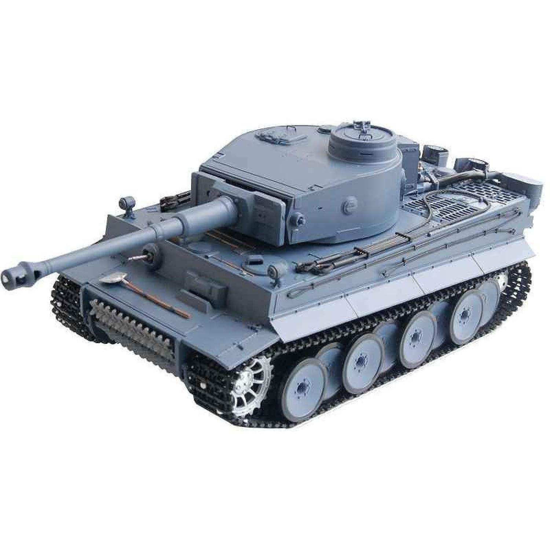 RC Panzer 'German Tiger I' Heng Long 1:16 Grau, Rauch&Sound+Metallgetriebe und 2,4Ghz