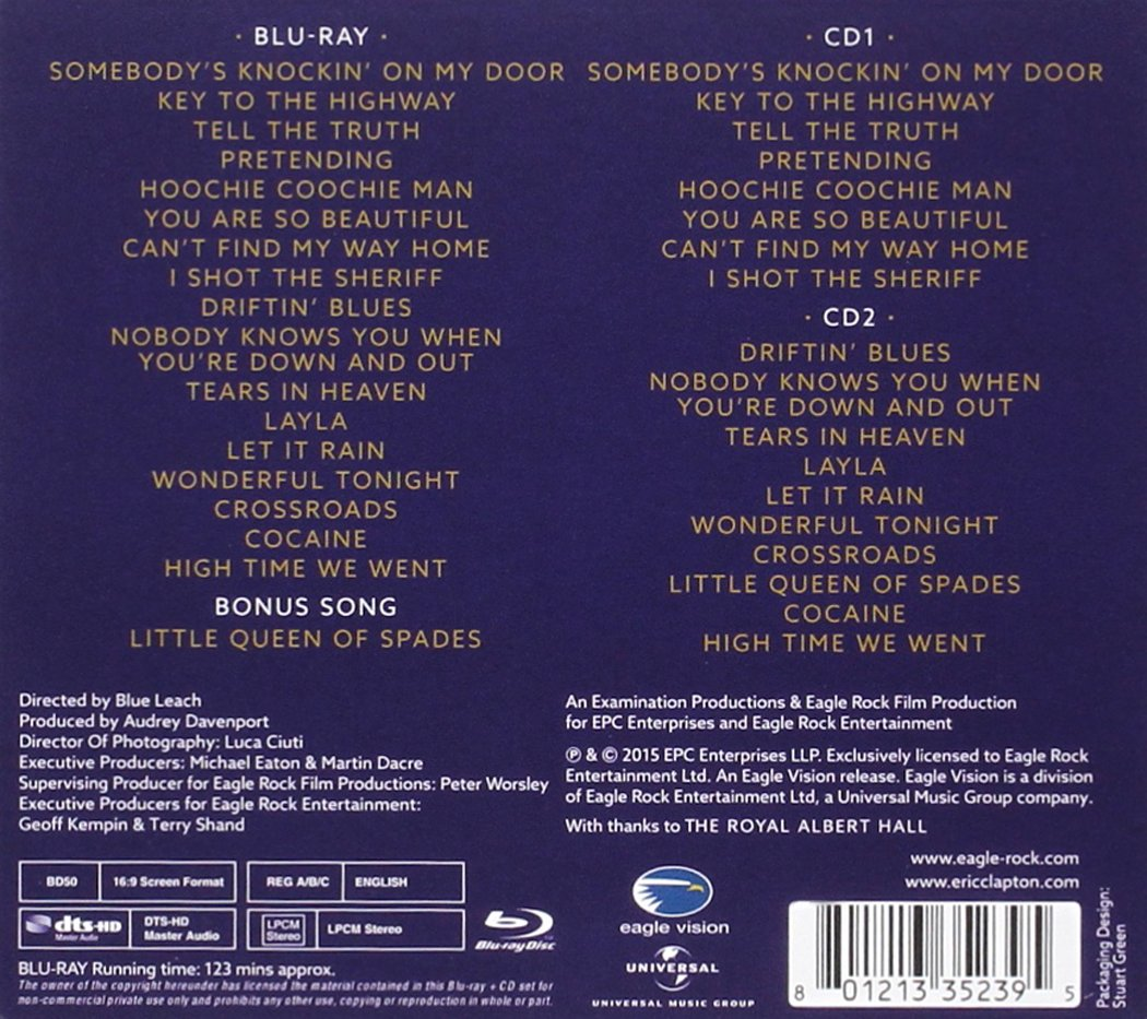 Eric Clapton - Slowhand At 70: Live At The Royal Albert Hall Italia ...