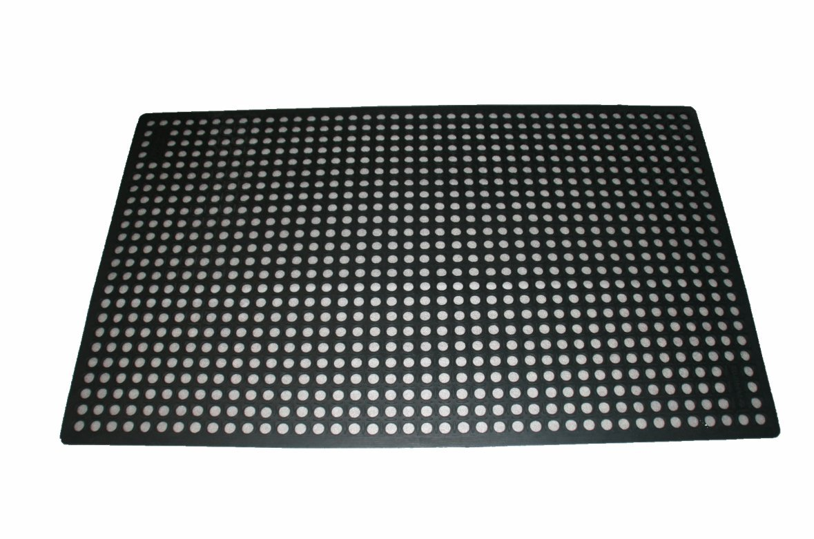 Rhino Mats KCT-3660B K-Series Comfort Tract Anti-fatigue Drain-thru Mat, 3' x 5', Black by Rhino Mats (Image #2)