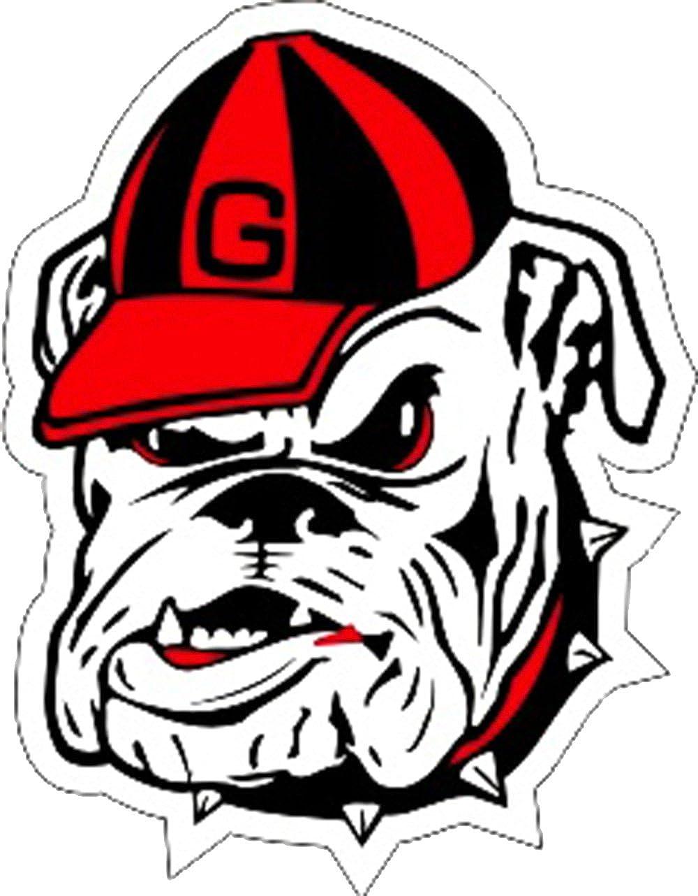 Craftique Georgia Bulldogs UGA Bulldog Head Decal
