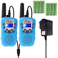 2-Pack Swiftion Kids Rechargeable Walkie Talkies (Blue)