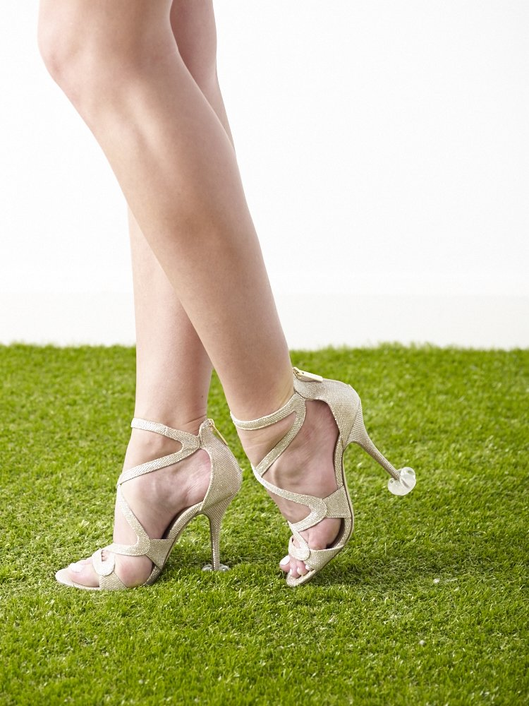 HIGH HEEL PROTECTORS for Shoes on Grass (15 Pair Value Multi-Pack) - Stops Your Heels Sinking - Crystal Clear by Starlettos (Image #7)