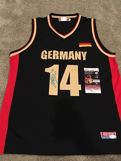 d4b3fe9dc cheap dirk nowitzki autographed signed autograph germany nba dallas  mavericks jersey jsa coa 262d7 9a9ed