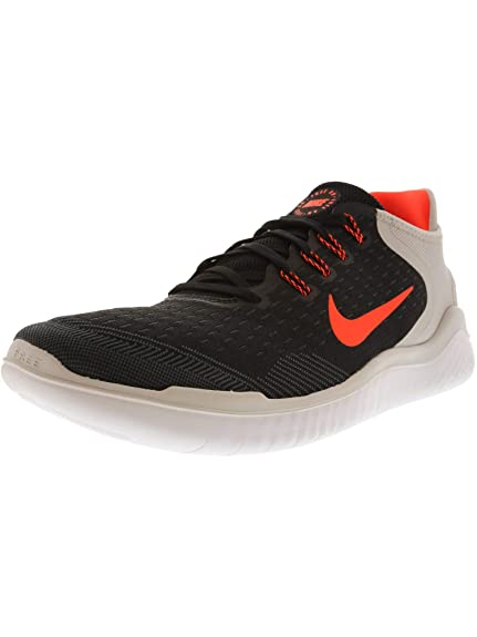 d21eba395ea0 Nike Free RN 2018 Black Total Crimson-vast Grey Running Shoes (10 D(M) US)   Buy Online at Low Prices in India - Amazon.in