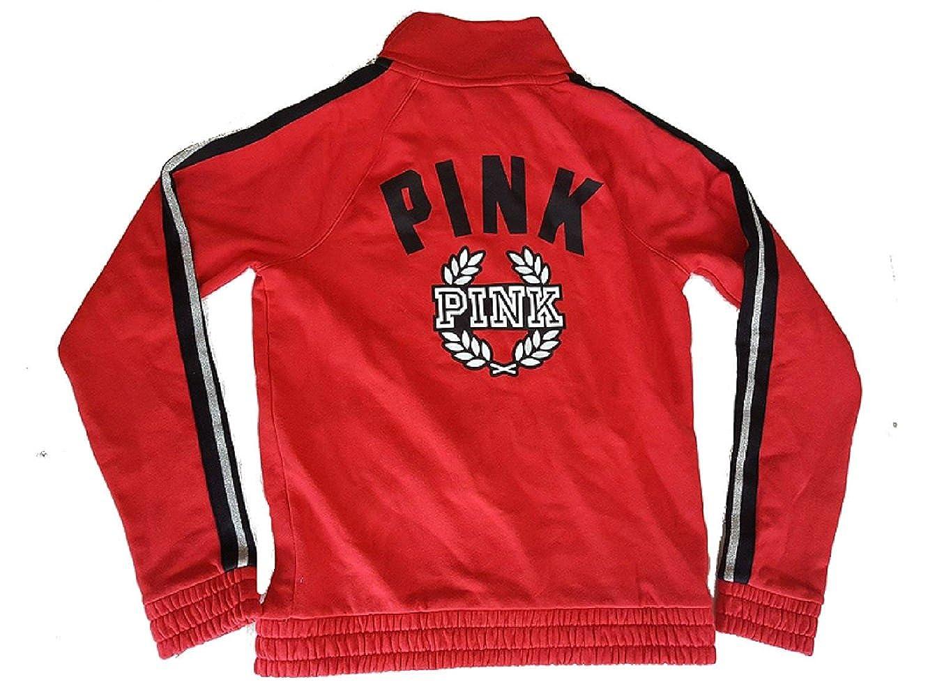 Victorias Secret PINK Logo Crest Full Zip sweatshirt Medium Medium