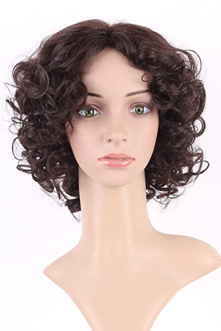 s-noilite ® mullido corto para mujer pelucas completa ondulado ...