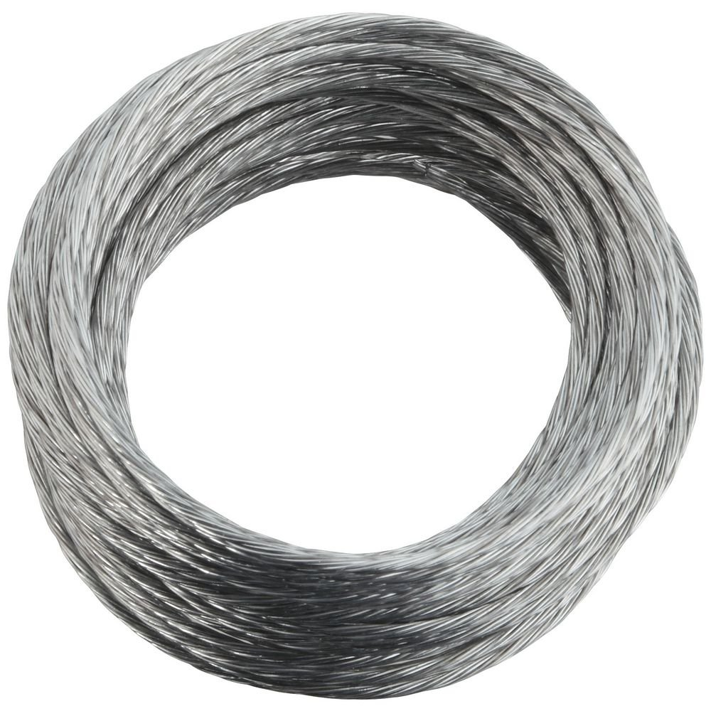 National Hardware V2565#3 x 25' Medium-Duty Braided Wire in Galvanized N260-315