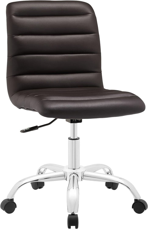 Modway Ripple Armless Mid Back Office Chair In White Amazon De Kuche Haushalt