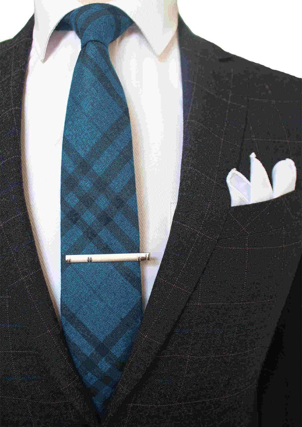 Gentle Corbata de Cuadros de Lana y Cachemira de 8 cm con Bolsillo ...