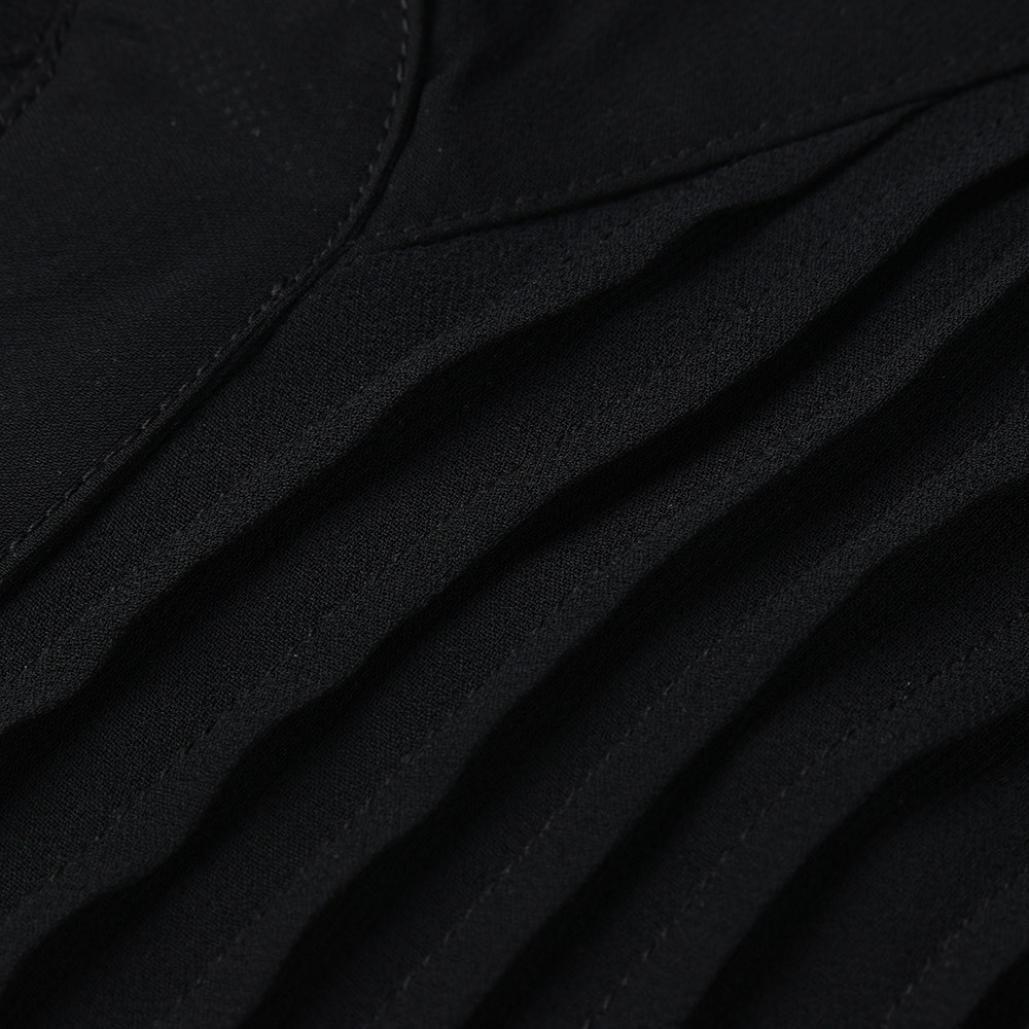 Femmes Été Décontracté en Mousseline de Soie col en V à Manches Longues T-Shirt Débardeur Chemisiers Malloom