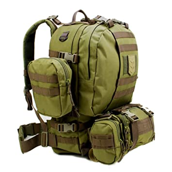 e49f5a91cd3b Paratus 3 Day Operator s Pack - Military Style MOLLE Compatible Tactical  Backpack (Olive Drab Green)