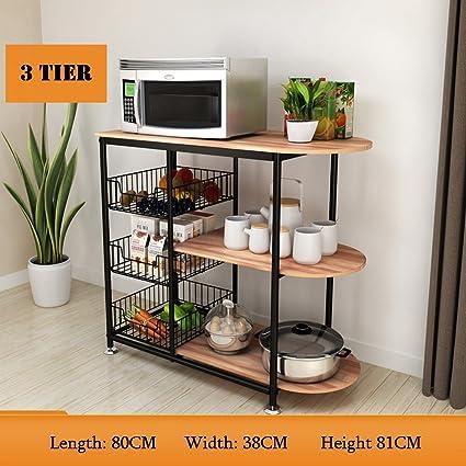 Vegetable Stand Designs : Amazon storage racks tier multifunctional kitchen standing