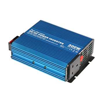 300W 12V pure sine wave power inverter 230V AC output (UK socket), with  powerful USB port - for any vehicle, boat or stationary off-grid power