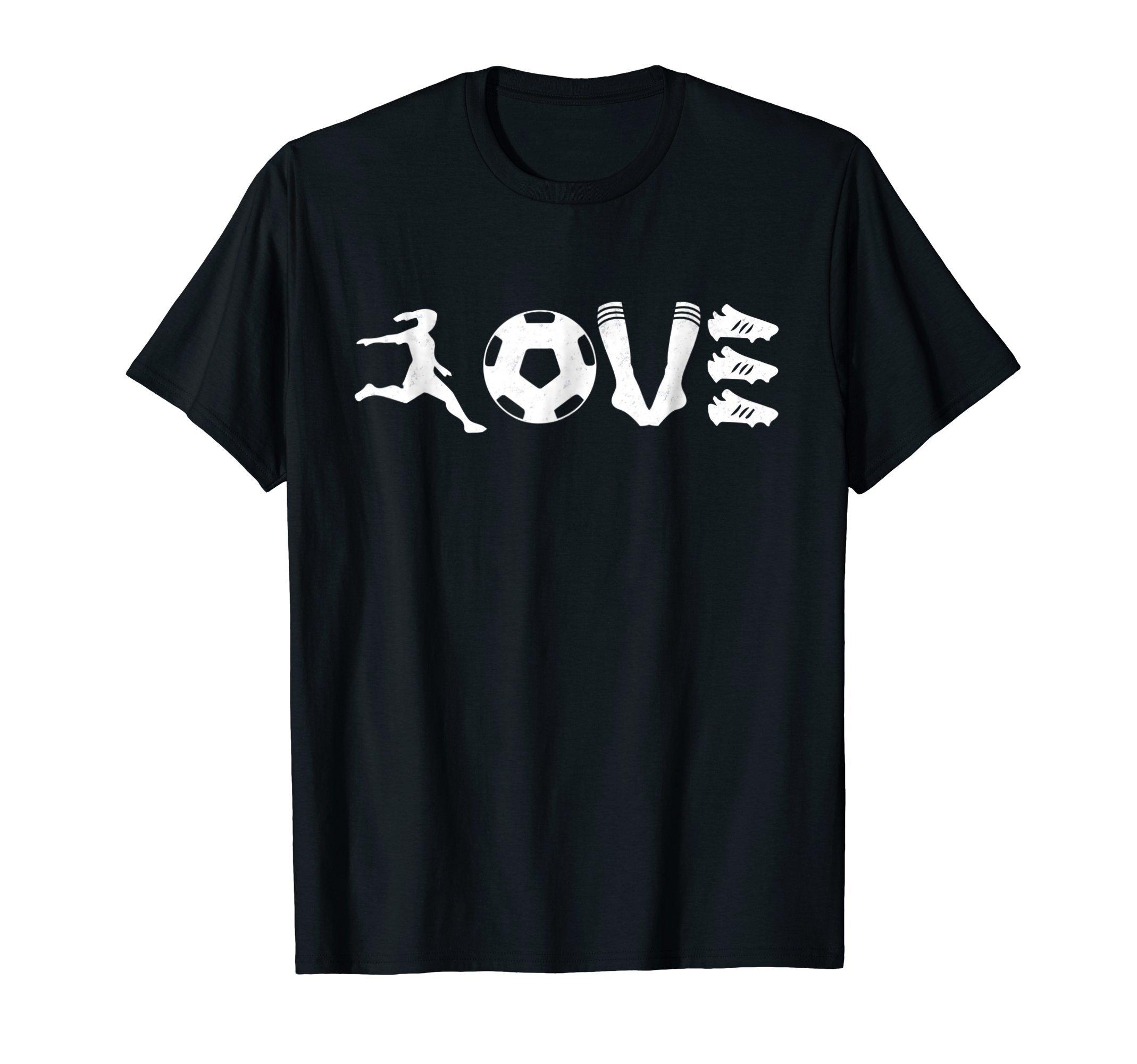 Vintage Soccer Football T-Shirt I Love Soccer