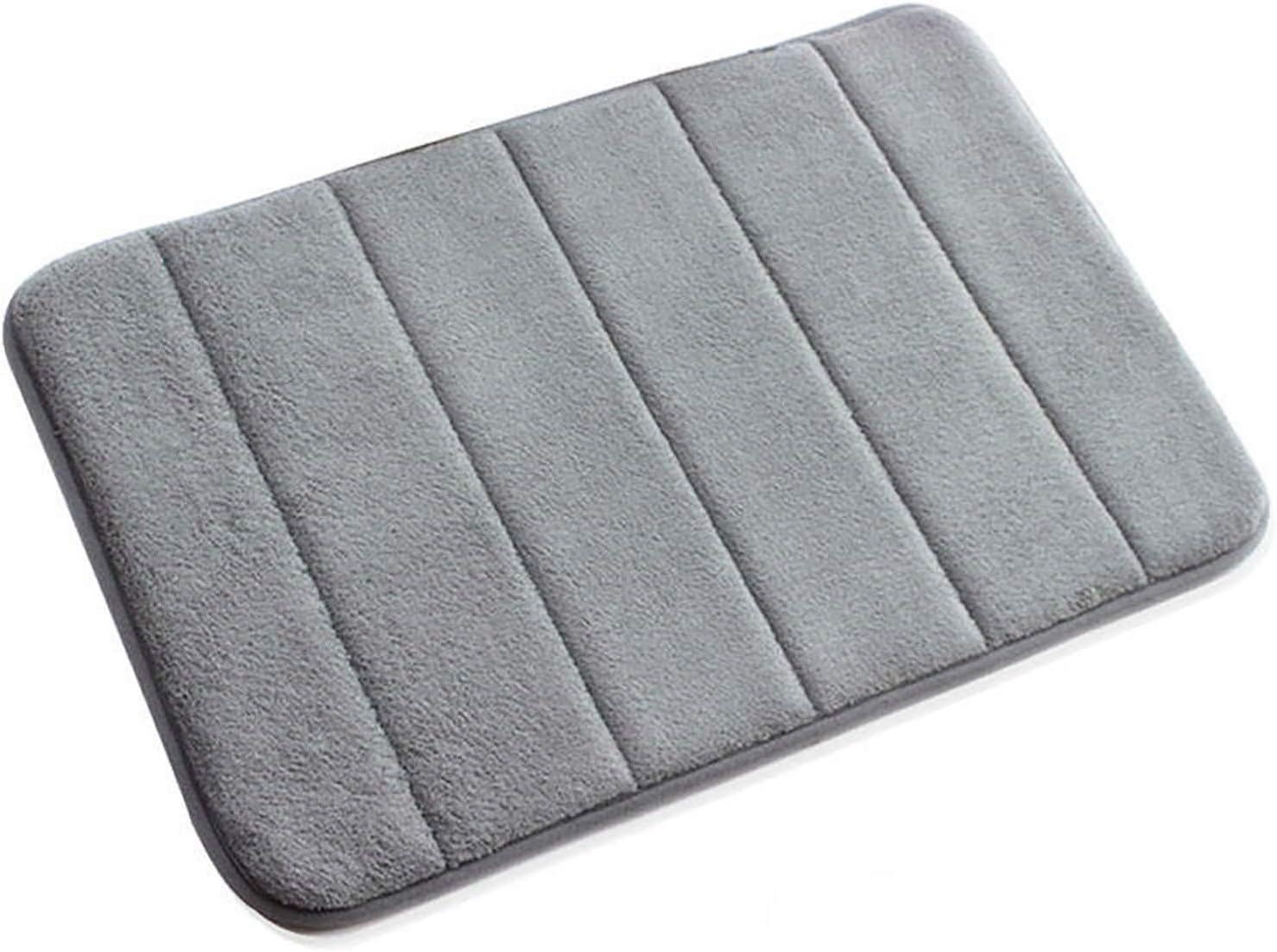 Amazon Com Vanra Small Bath Mat Bath Rugs Anti Slip Memory Foam Non Slip Bathroom Mat Soft Bathmat Carpet 15 7 X 23 6 Gray Home Kitchen