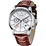 LIGE Relojes para Hombre Fashion Business Reloj de Cuarzo Caballero Reloj Deportivo Blanco Cronógrafo clásico…