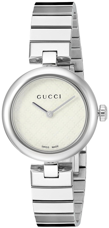 ebcfe379b8a Gucci Women s YA141502 Analog Display Swiss Quartz Silver Watch  Amazon.ca   Watches