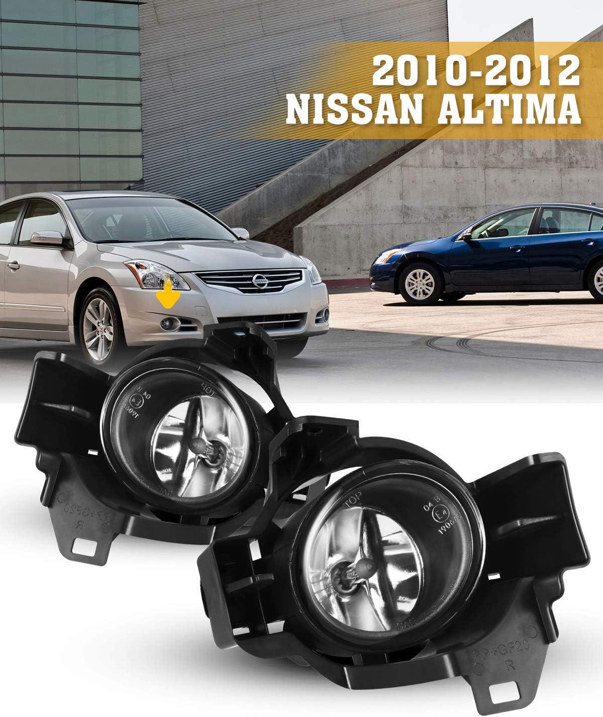 fits 2010 2012 Nissan Altima 4 Door sedan Left Driver side Fog lamp Bezel Black