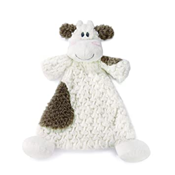 Nat and Jules Rattle Blankie Moozer Cow Baby Blanket Plush Cow Snuggle