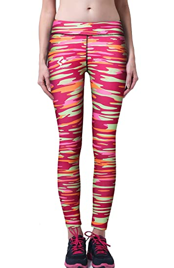4494606532ed8 ed Plume Women's Tights Workout Active Digital Printed Yoga Leggings Sports  Tapered-Leg Running Dancing