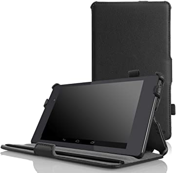 Amazon Com Moko Google Nexus 7 2013 Fhd 2nd Gen Case Slim Fit Multi Angle Stand Cover Case With Auto Wake Sleep For Google Nexus 2 7 0 Inch 2013 Generation Android 4 3 Tablet Black Computers Accessories