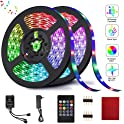 2-Pack HRDJ RGB 32.8-Feet Music Sync Color Changing LED Strip Lights
