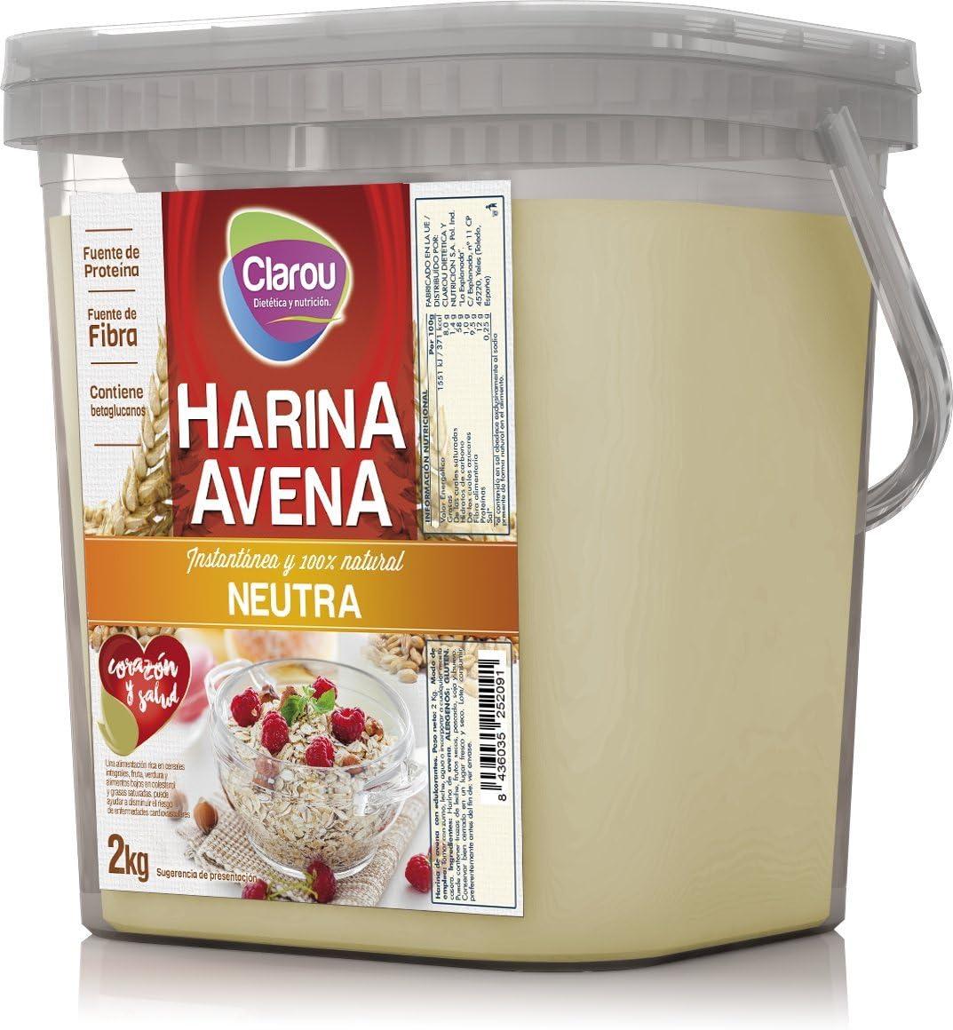 Clarou Harina de Avena Neutra 2 kg: Amazon.es: Alimentación y bebidas