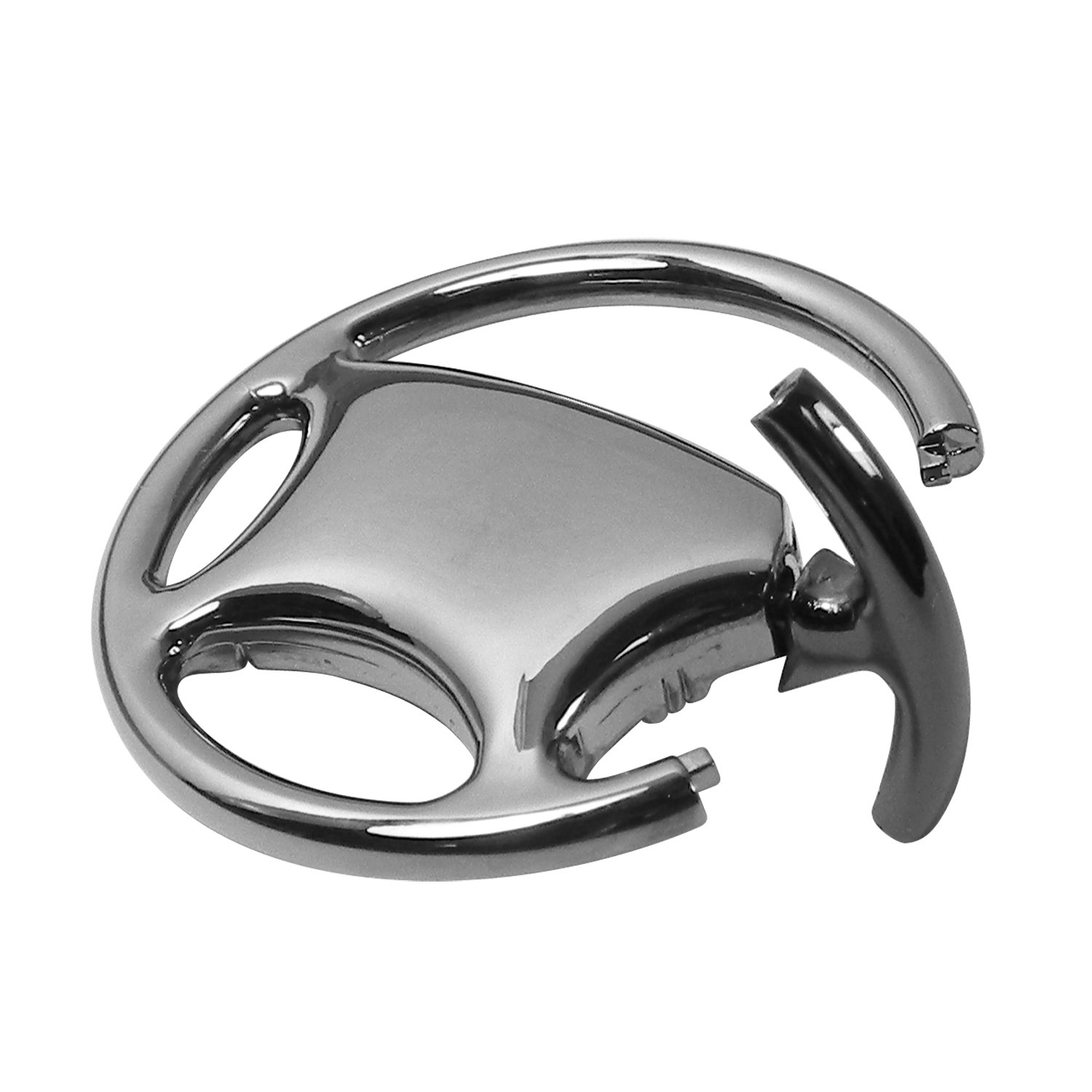 Ford Mustang Black Chrome Steering Wheel Key Chain