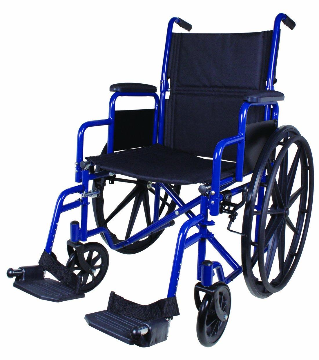 Carex Health Brands Wheelchair, Blue