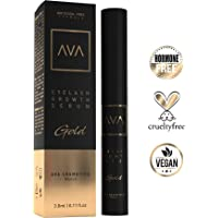 AVA® Gold - Eyelash Growth Serum - Wimpernserum & Augenbrauenserum - Hormonfrei - 3ml - Made in Germany