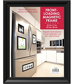mcs front loading magnetic picture frame for refrigerator 85x11 inch