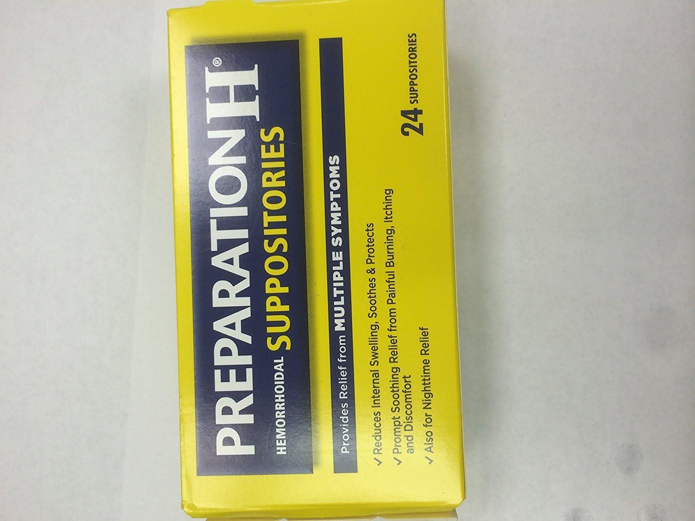 Preparation H Hemorrhoid Suppositories 24 Suppositories