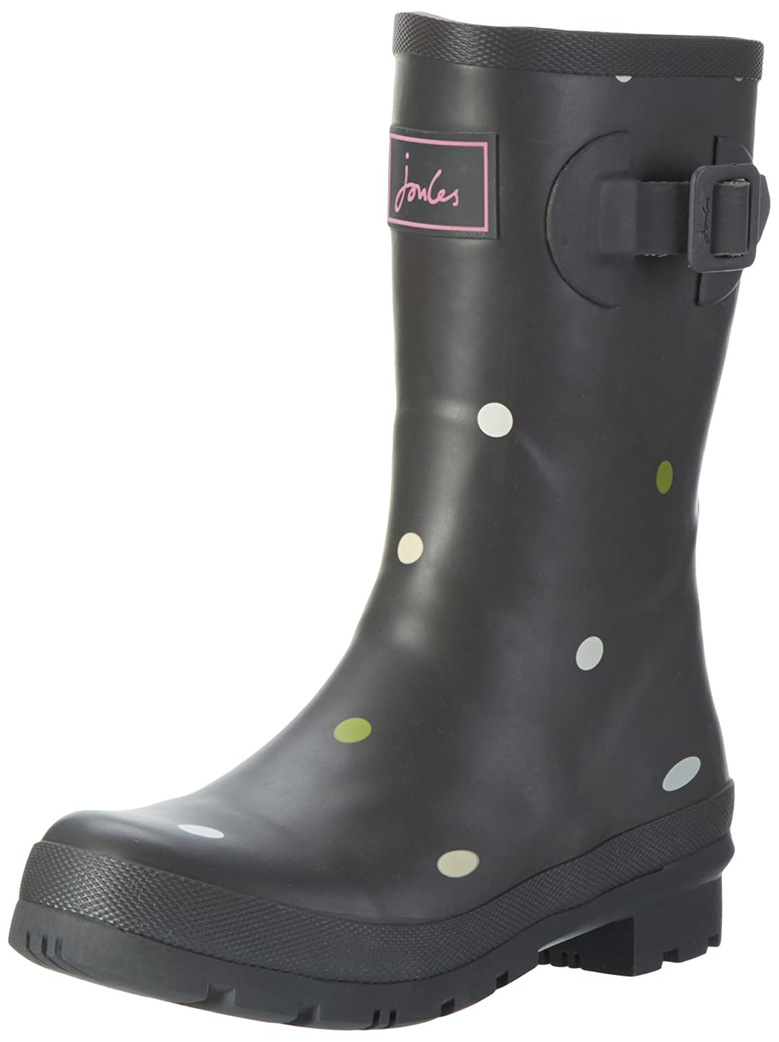 Joules Women's Molly Welly Rain Boot B01M21OQYD 6 B(M) US|Grey Kiki Spot