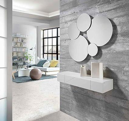 ch design recibidores modernos consola tiku blanca