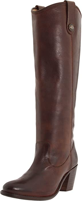 FRYE Women's Jackie Button Boot, Chocolate Soft Vintage Leather, ...