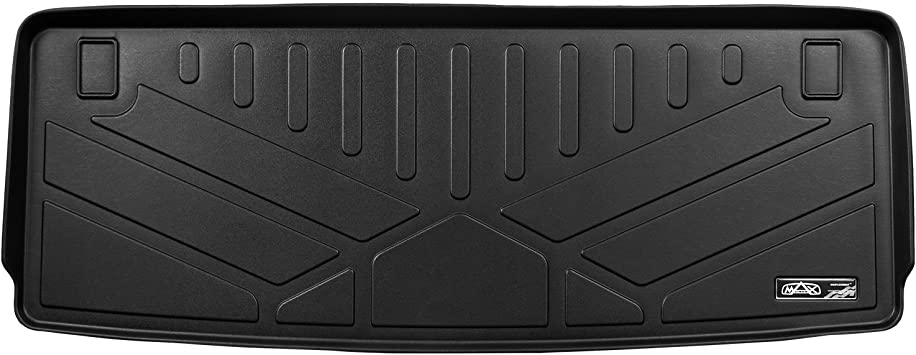 SMARTLINER Cargo Trunk Liner Floor Mat Behind 3rd Row Black for 2017-2019 Nissan Armada//11-2013 Infiniti QX56//2014-2019 QX80
