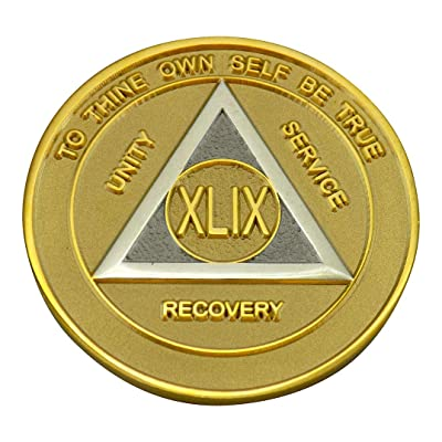 AA Coins - 49 Year Gold and Silver Bi-Plate Medallion | Recovery Shop: Everything Else
