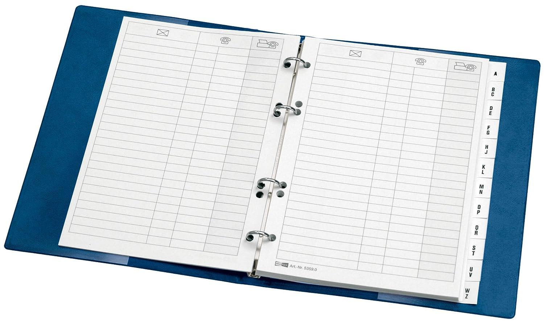Veloflex 5158150 - Agenda telefónica, color azul
