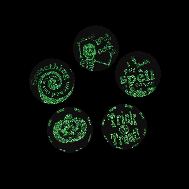 100 Stickers per Roll, Shrink-Wrapped Glow-in-the-Dark Halloween Stickers FX//OT SG/_B071R6BG3B/_US