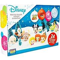 Sambro DIS-6975 Adventskalender Puzzle Palz Radiergummi Spielfiguren, Disney Frozen, Princess, Toy Story und viele mehr, für Kinder ab 3 Jahre, bunt