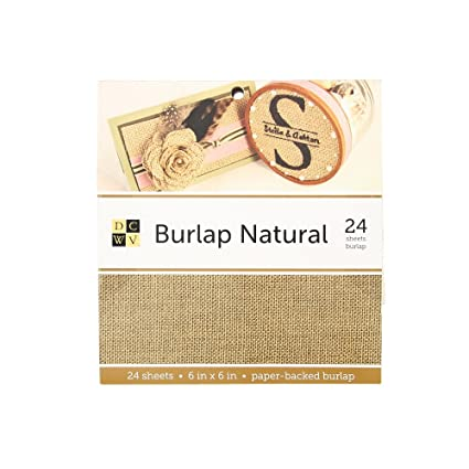 photo regarding Printable Burlap Paper named : American Crafts DCWV 6\