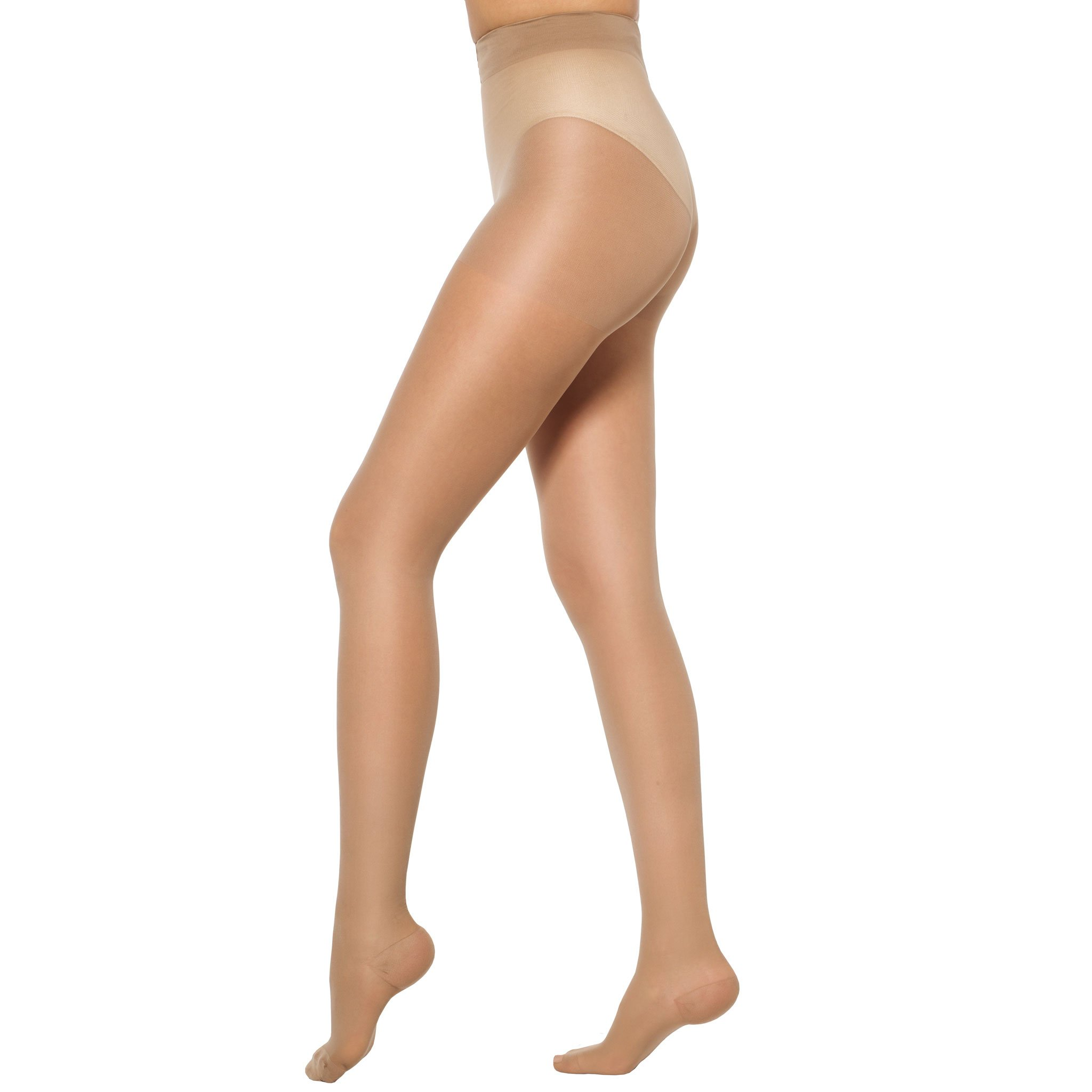 Healthweir Graduated Compression Pantyhose 15-20 mmHg (EU 18-22 mmHg) Class 1 Medical Support Stockings -Made in Italy- Sheer Hosiery for Everyday Use Travel Recovery Nursing & Maternity (4, Skin)