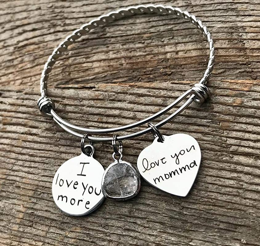 Christmas Gift for Mom Personalized Purse Charm Engraved Handwriting Gift Bag Charm