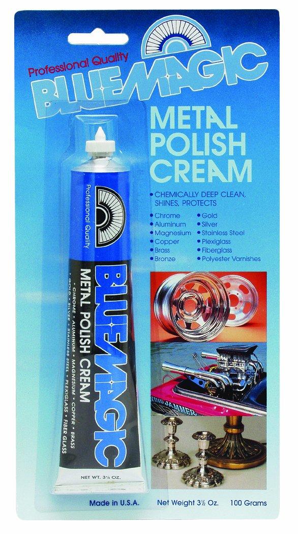 Blue Magic 300-12PK Metal Polish - 3.5 oz. Tube, (Blister Pack of 12)